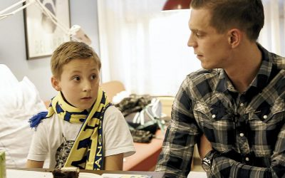 Daniel Agger & Brøndby IF mascot visited The Children's Ward