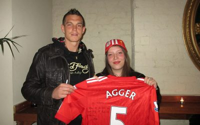 Katinka Laura meets Daniel Agger in Liverpool