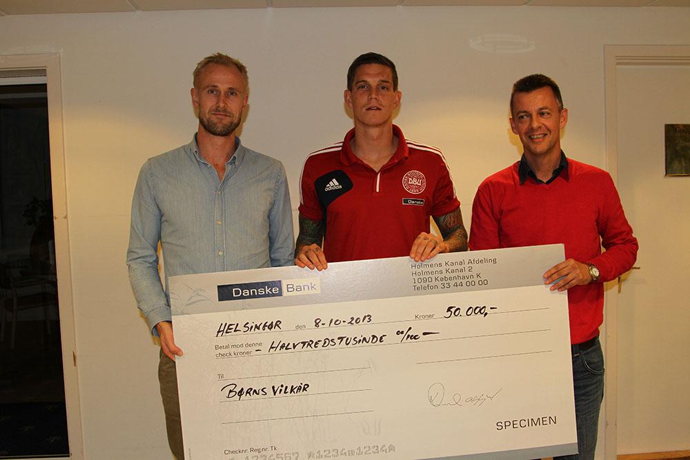 The Agger Foundation donates kr.50.000 to Børns Vilkår